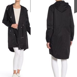 NEW Aves Les Filles Solid Hooded Long Anorak M